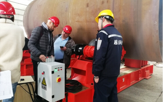 Russian client inspect the 150Ton welding rotator